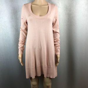 Boston Proper Sweater Dress Sexy Pink Soft NWOT Sm
